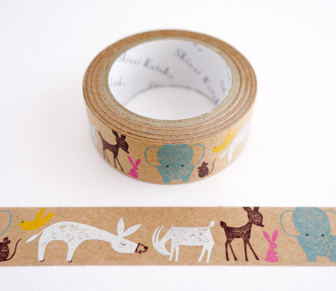 Noah's Ark Animals - Shinzi Katoh Kraft Tape
