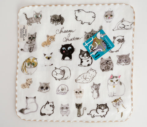 All Kinds of Cats - Small Towel - Shinzi Katoh - Chaton - Zakka