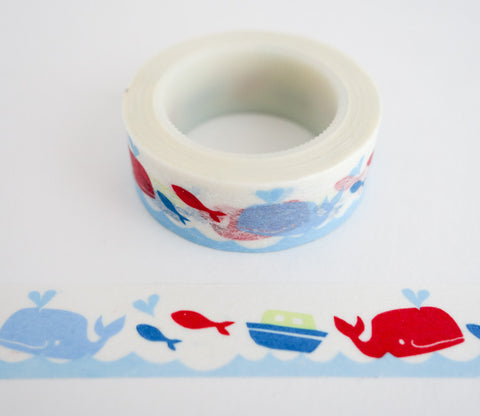 Happy Whales - Washi Tape