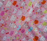 Happy Cats in Pink - Japanese Fabric - Cotton Shirting - Westex