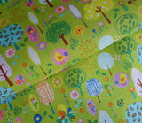 Little Sweet Forest in Light Green - Japanese Fabric - Cotton Shirting - Westex