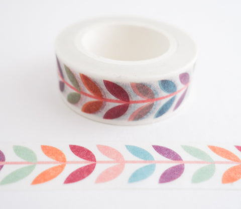 Modern Colorful Flowers Washi Tape