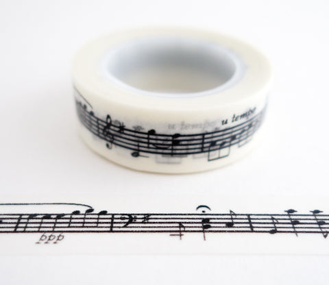 Sheet Music Washi Tape