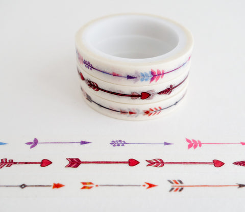 Arrow Patterns - Mini Washi Tape - Set of 3 Rolls