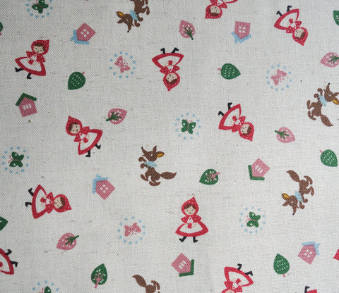 Little Red Riding Hood - Butterfly - Cotton Linen Japanese Fabric