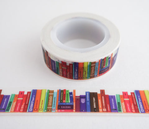 Library of Books Washi Tape