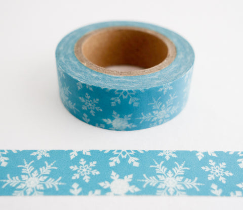 Snowflakes in Blue - Washi Tape