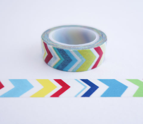 Modern Multi-Colored Chevron Stripe Washi Tape