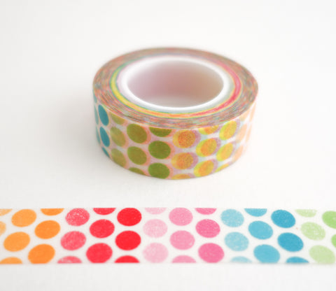 Rainbow Polka Dots Washi Tape