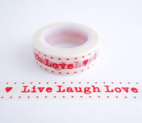 Live Laugh Love Washi Tape