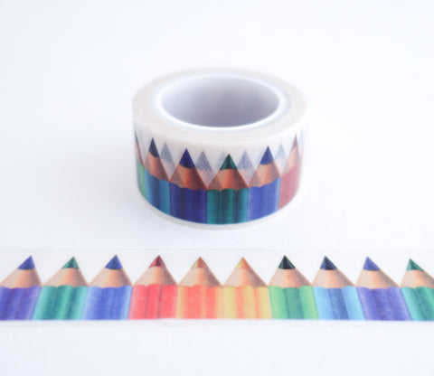 Colored Pencils Washi Tape