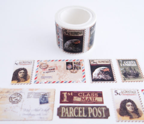 Mail Postage Stamps - Washi Tape