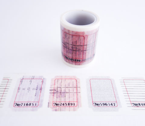 Ticket Stubs - Wide Washi Tape