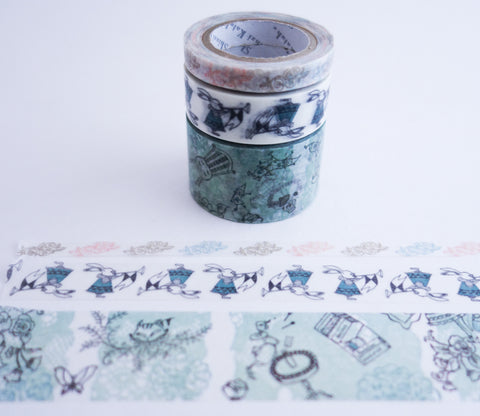 Alice in Wonderland - Shinzi Katoh Washi Tape Set