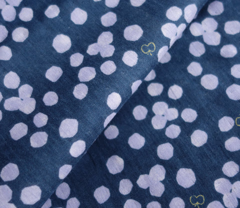 Butterflies and Dots - Purple - Japanese Double Gauze Fabric