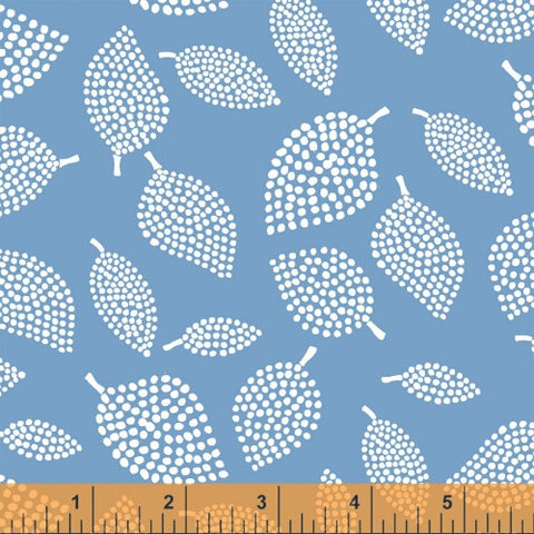Nopp Leaves in Sky Blue - Mormor Collection - Lotta Jansdotter Fabric