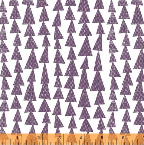 Pilvi Trees in Eggplant Purple - Mormor Collection - Lotta Jansdotter Fabric