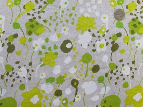 Spring Garden in Light Green - Cotton Linen Japanese Fabric - Westex