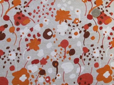 Spring Garden in Orange - Cotton Linen Japanese Fabric - Westex