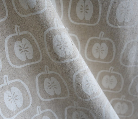 Apple Stamp - White - Westex - Japanese Fabric