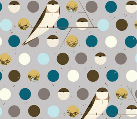 Bank Swallow Blue - Charley Harper - Birch Organic Fabrics
