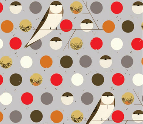 Bank Swallow Fall - Charley Harper - Birch Organic Fabrics
