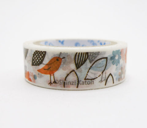 Spring Bird Shinzi Katoh Washi Tape