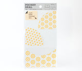 Journal Pocket Seal Organizer - Yellow Flowers - Midori
