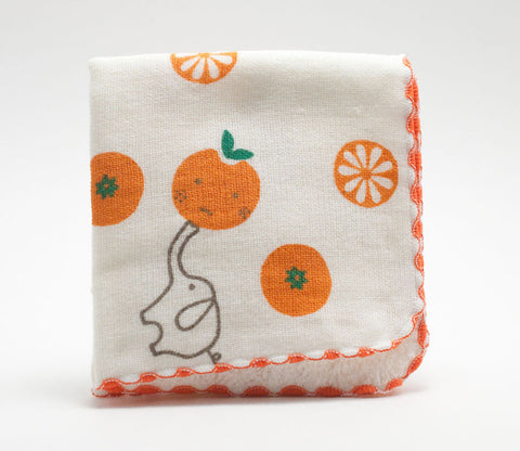 Elephants and Oranges - Small Towel - Shinzi Katoh