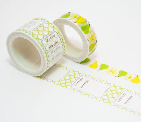 Pears & To-Do List Washi Tape