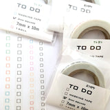 To-Do List Washi Tape Double Set - Black Pencil and Colored Crayon 3.0mm