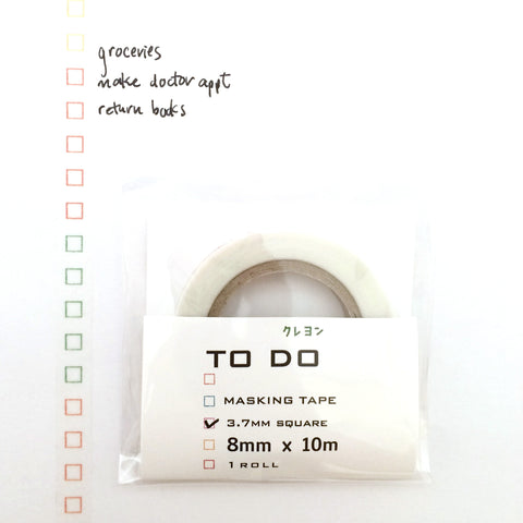 To-Do List Washi Tape - Colored Crayon 3.7mm