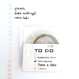 To-Do List Washi Tape - Colored Crayon 3.0mm