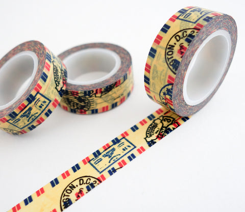 Airmail Stamps Washi Tape