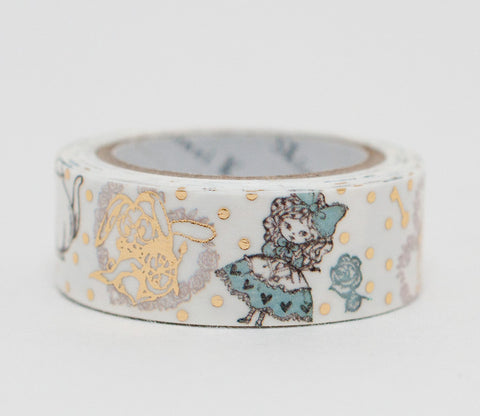Alice in Wonderland - Shinzi Katoh Gold Foil Washi Tape
