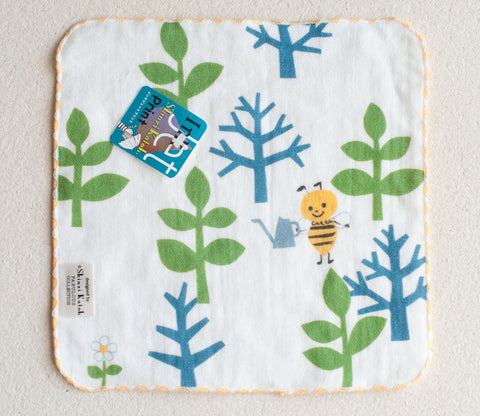 Tenderness Bee & Tree Small Towel - Shinzi Katoh