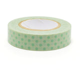 Polka Dots - Green - Japanese Washi Tape Set