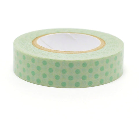 Polka Dots - Green - Japanese Washi Tape