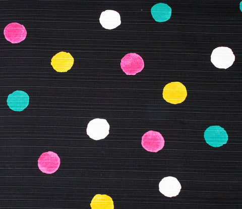 Watercolor Dots - Dark Grey / Black - Kobayashi