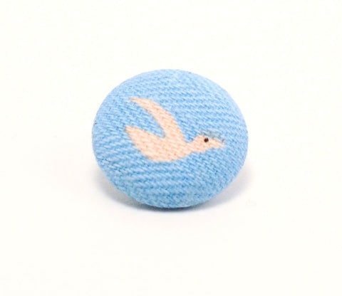 Pink Bird Button - Shinzi Katoh