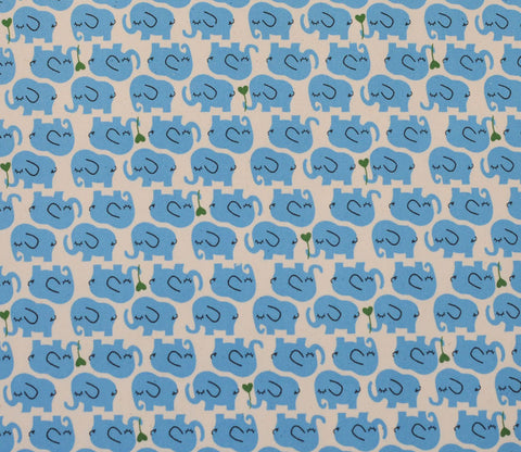 Sleepy Elephants - Blue - Kokka Trefle