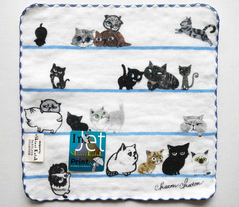 Cat Border - Small Towel - Shinzi Katoh - Chaton - Zakka