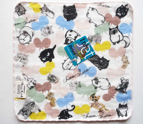 Cat Butterfly - Small Towel - Shinzi Katoh - Chaton - Zakka