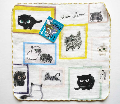 Cat Memory Photo Gallery - Small Towel - Shinzi Katoh - Chaton - Zakka