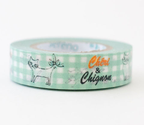 Chignon Cat Shinzi Katoh Washi Tape
