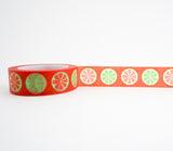 Lemon Lime Orange Washi Tape - Fruit Washi Tape