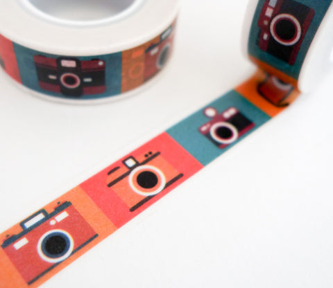 Colorful Retro Cameras - Travel Journal Washi Tape