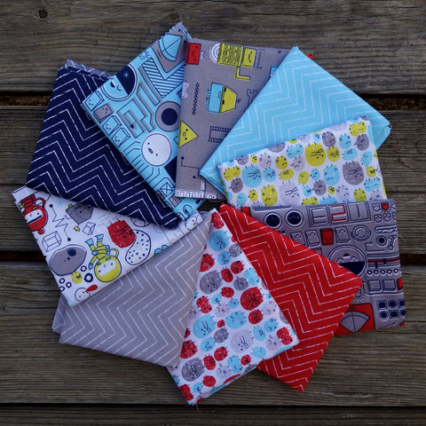 Cosmic Convoy - 10 Fat Quarter Fabric Bundle - Cloud9 Organics