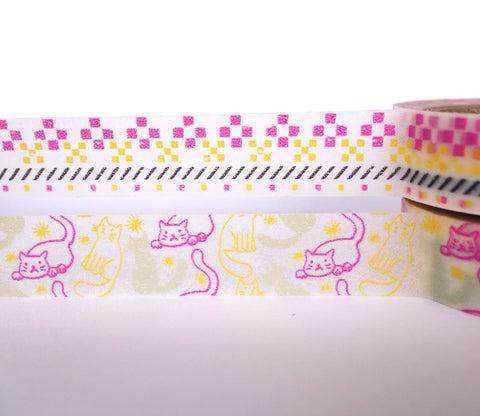 Cat Washi Tape Set - Dailylike Afternoon Set