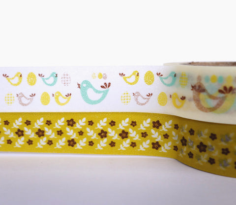 Bonny Birds and Flowers - Dailylike Washi Masking Tape